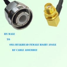 HN Male to SMA Bulkhead Female Right Angle RF Cable Assembly