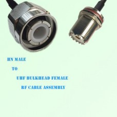 HN Male to UHF Bulkhead Female RF Cable Assembly