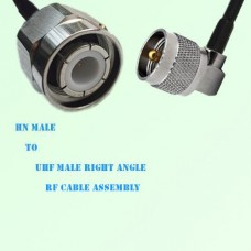 HN Male to UHF Male Right Angle RF Cable Assembly