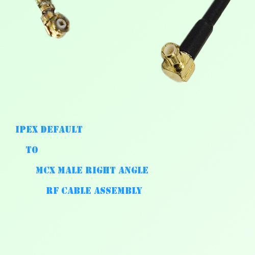 IPEX to MCX Male Right Angle RF Cable Assembly