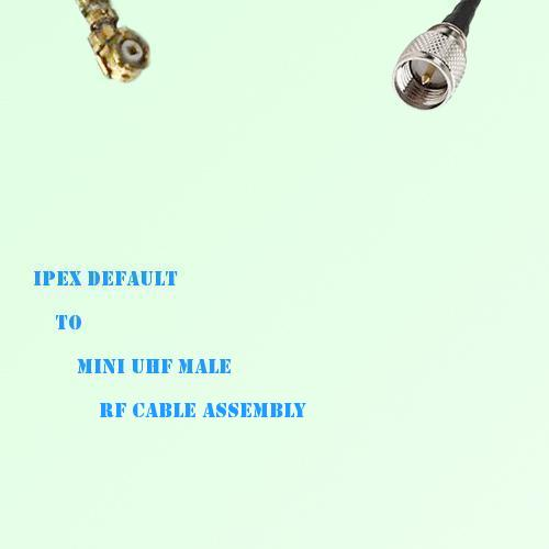 IPEX to Mini UHF Male RF Cable Assembly