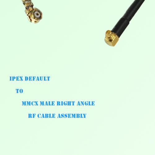 IPEX to MMCX Male Right Angle RF Cable Assembly