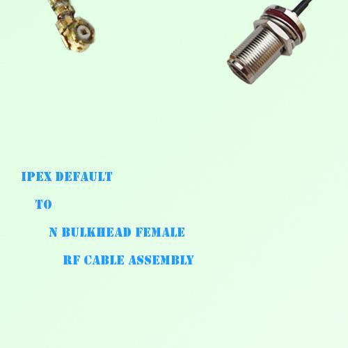 IPEX to N Bulkhead Female RF Cable Assembly