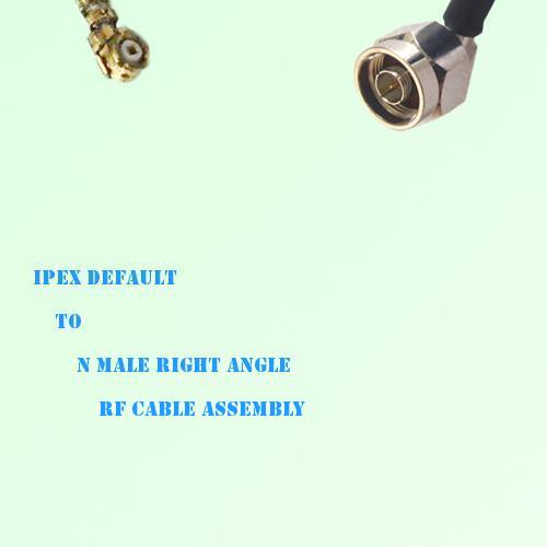 IPEX to N Male Right Angle RF Cable Assembly