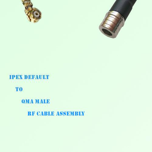 IPEX to QMA Male RF Cable Assembly