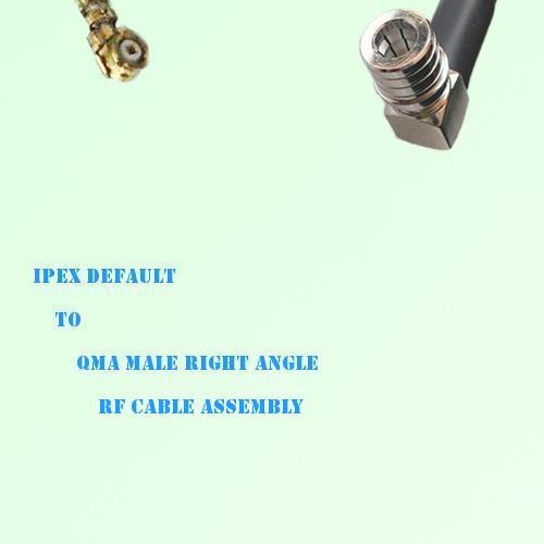 IPEX to QMA Male Right Angle RF Cable Assembly