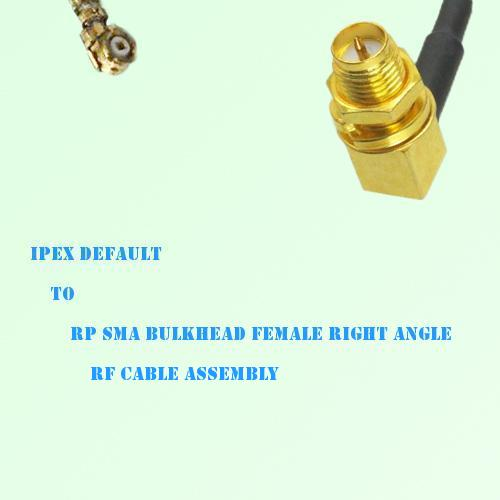 IPEX to RP SMA Bulkhead Female Right Angle RF Cable Assembly