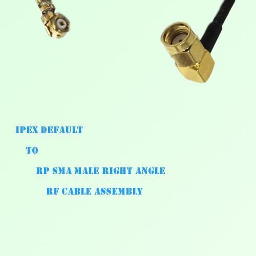 IPEX to RP SMA Male Right Angle RF Cable Assembly