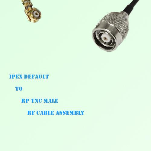 IPEX to RP TNC Male RF Cable Assembly