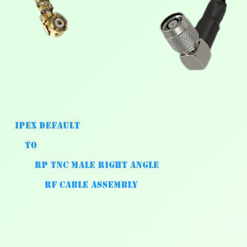 IPEX to RP TNC Male Right Angle RF Cable Assembly