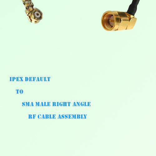 IPEX to SMA Male Right Angle RF Cable Assembly