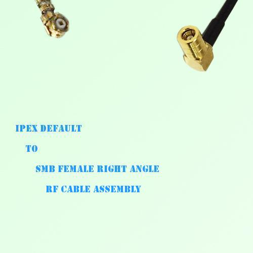 IPEX to SMB Female Right Angle RF Cable Assembly