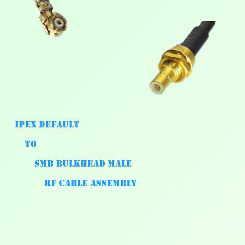IPEX to SMB Bulkhead Male RF Cable Assembly