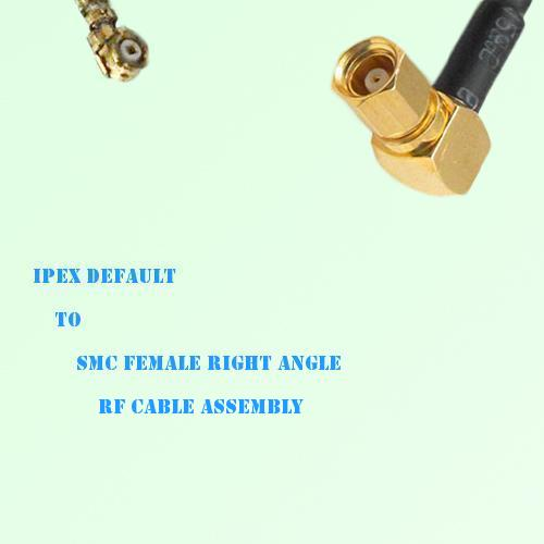 IPEX to SMC Female Right Angle RF Cable Assembly