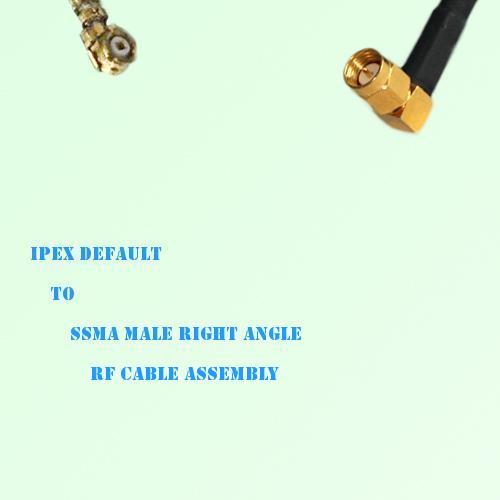 IPEX to SSMA Male Right Angle RF Cable Assembly