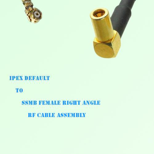 IPEX to SSMB Female Right Angle RF Cable Assembly