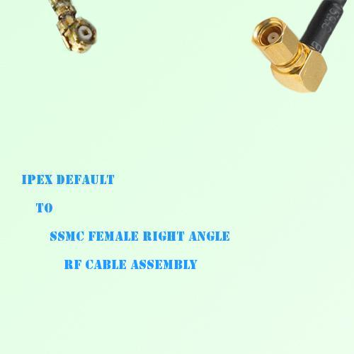 IPEX to SSMC Female Right Angle RF Cable Assembly