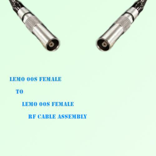 Lemo FFA 00S Female to Lemo FFA 00S Female RF Cable Assembly