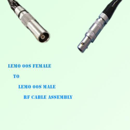 Lemo FFA 00S Female to Lemo FFA 00S Male RF Cable Assembly