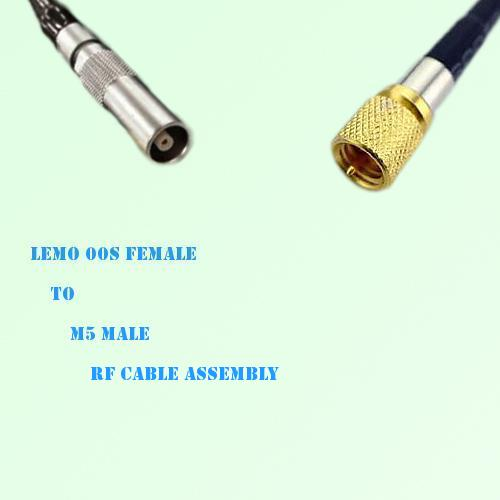 Lemo FFA 00S Female to Microdot 10-32 M5 Male RF Cable Assembly