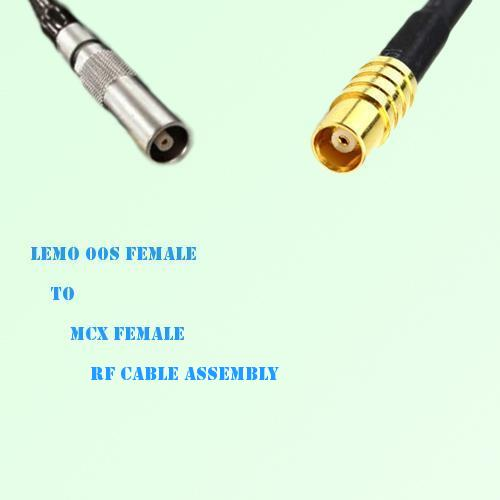 Lemo FFA 00S Female to MCX Female RF Cable Assembly
