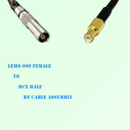 Lemo FFA 00S Female to MCX Male RF Cable Assembly