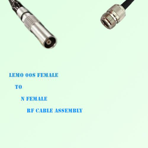 Lemo FFA 00S Female to N Female RF Cable Assembly
