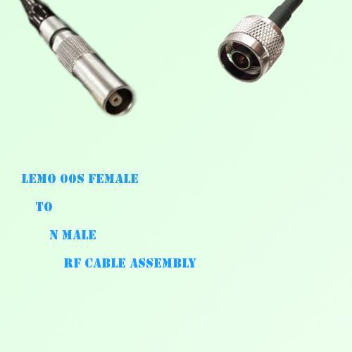 Lemo FFA 00S Female to N Male RF Cable Assembly