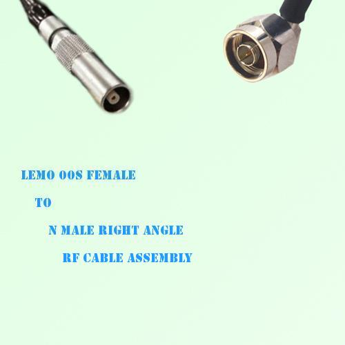 Lemo FFA 00S Female to N Male Right Angle RF Cable Assembly