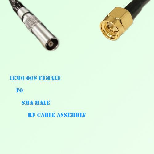 Lemo FFA 00S Female to SMA Male RF Cable Assembly