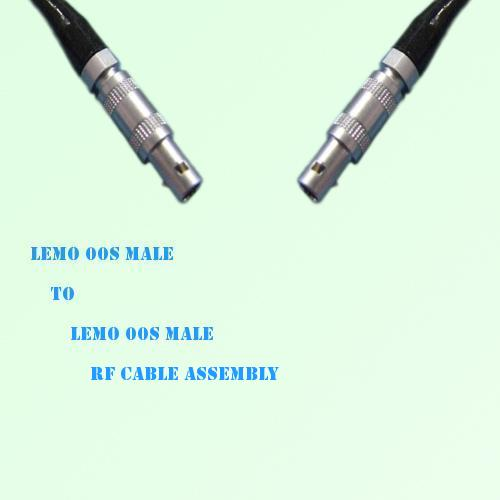 Lemo FFA 00S Male to Lemo FFA 00S Male RF Cable Assembly