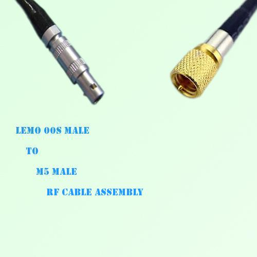 Lemo FFA 00S Male to Microdot 10-32 M5 Male RF Cable Assembly