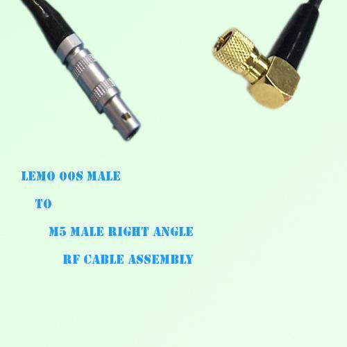 Lemo FFA 00S Male to Microdot 10-32 M5 Male R/A RF Cable Assembly