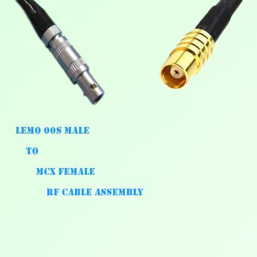 Lemo FFA 00S Male to MCX Female RF Cable Assembly