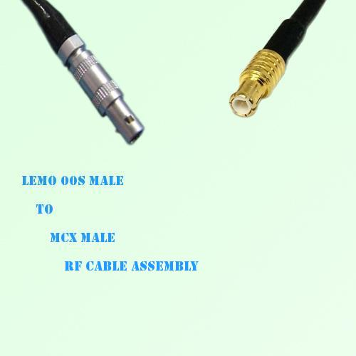Lemo FFA 00S Male to MCX Male RF Cable Assembly