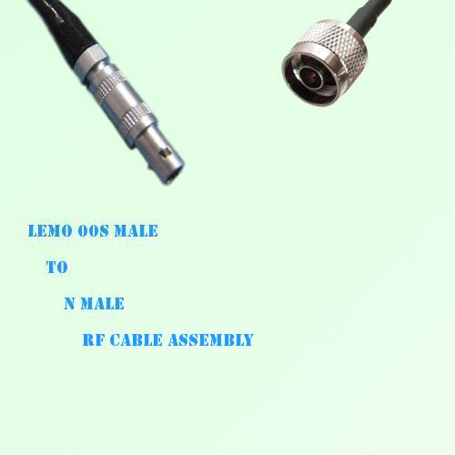 Lemo FFA 00S Male to N Male RF Cable Assembly