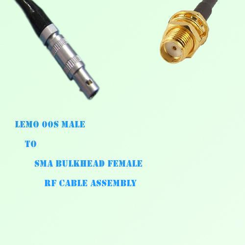 Lemo FFA 00S Male to SMA Bulkhead Female RF Cable Assembly