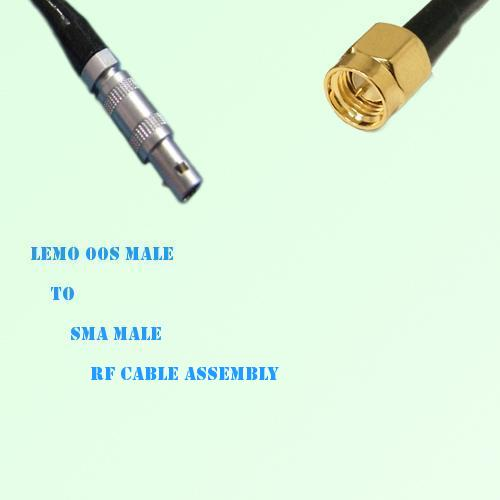 Lemo FFA 00S Male to SMA Male RF Cable Assembly