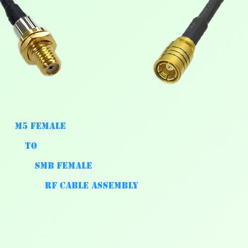 Microdot 10-32 M5 Female to SMB Female RF Cable Assembly
