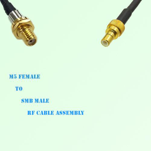 Microdot 10-32 M5 Female to SMB Male RF Cable Assembly