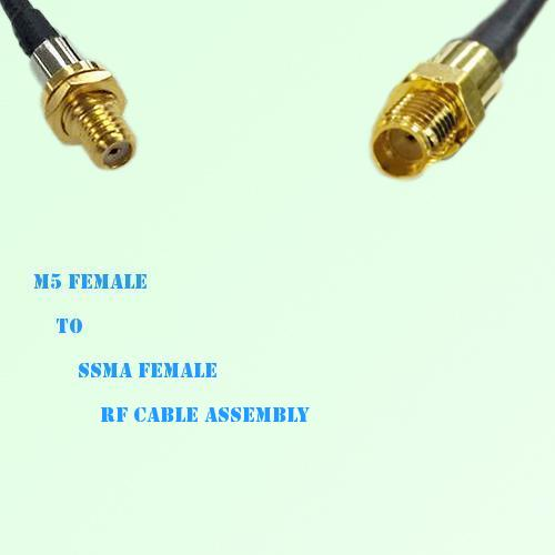 Microdot 10-32 M5 Female to SSMA Female RF Cable Assembly