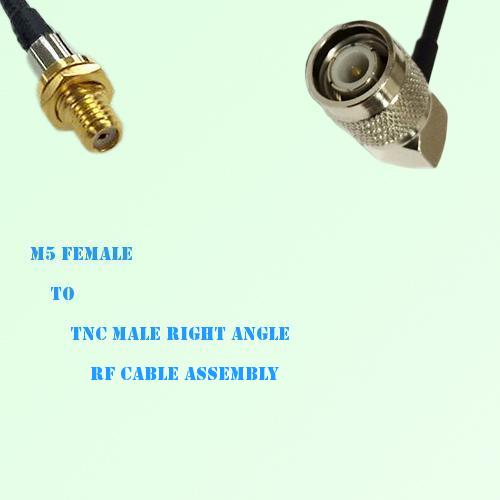 Microdot 10-32 M5 Female to TNC Male Right Angle RF Cable Assembly