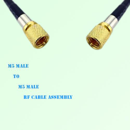 Microdot 10-32 M5 Male to Microdot 10-32 M5 Male RF Cable Assembly