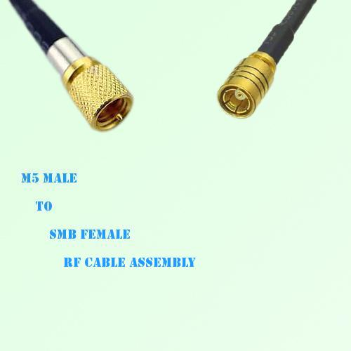 Microdot 10-32 M5 Male to SMB Female RF Cable Assembly