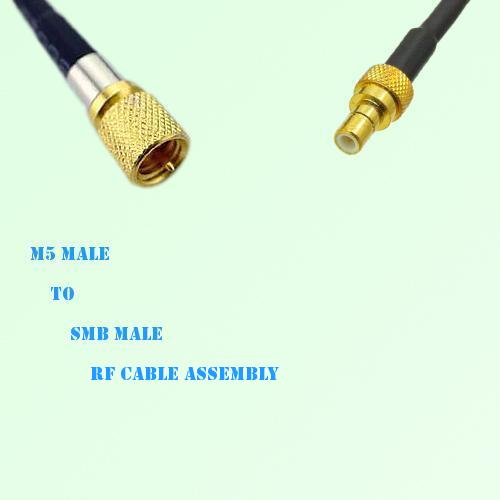 Microdot 10-32 M5 Male to SMB Male RF Cable Assembly