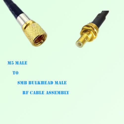 Microdot 10-32 M5 Male to SMB Bulkhead Male RF Cable Assembly