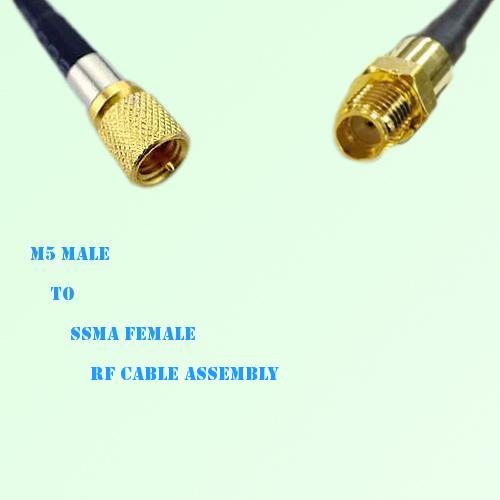Microdot 10-32 M5 Male to SSMA Female RF Cable Assembly