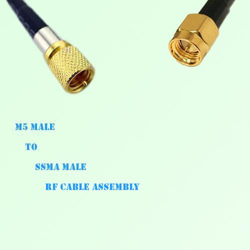 Microdot 10-32 M5 Male to SSMA Male RF Cable Assembly