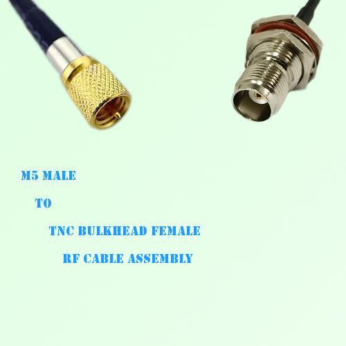 Microdot 10-32 M5 Male to TNC Bulkhead Female RF Cable Assembly