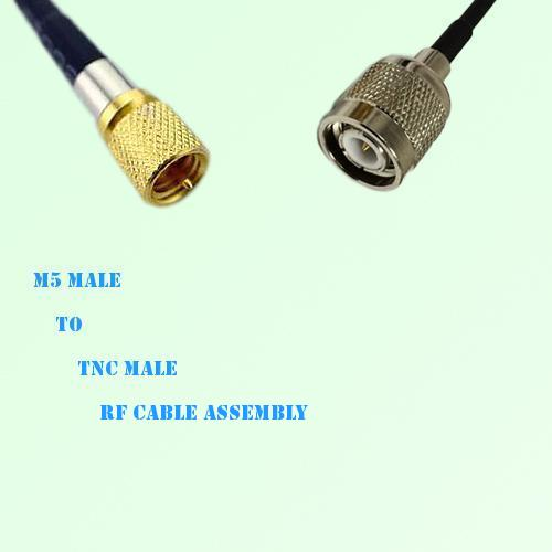 Microdot 10-32 M5 Male to TNC Male RF Cable Assembly